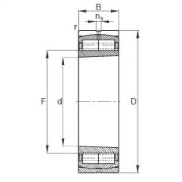 F-800594.ZL-K-C5 FAG Cylindrical roller bearing