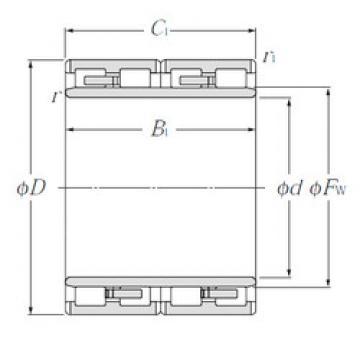E-4R8201 NTN Cylindrical roller bearing