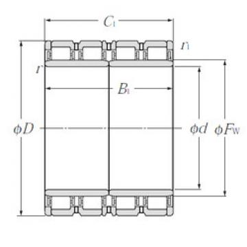 E-4R15203 NTN Cylindrical roller bearing
