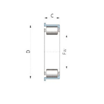 F-90309 INA Cylindrical roller bearing