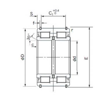 E5028NRNT NACHI Cylindrical roller bearing