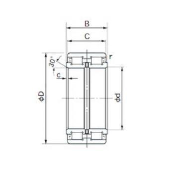 E5032 NACHI Cylindrical roller bearing