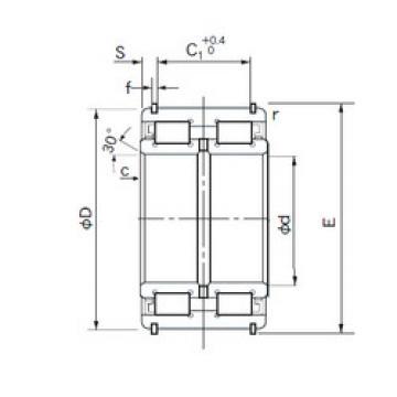 E5034NR NACHI Cylindrical roller bearing