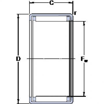 HK 0808 KF Cylindrical roller bearing