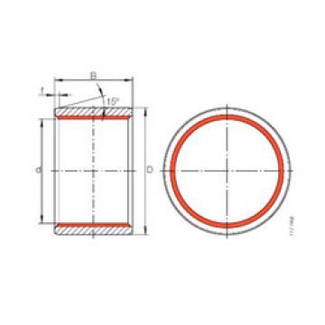 ZGB 80X90X80 INA Radial pherical plain bearing